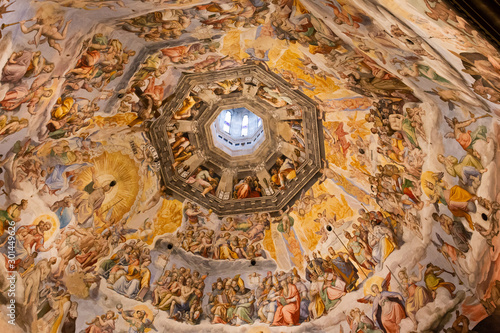 Tableau sur Toile Affreschi della cupola del Brunelleschi