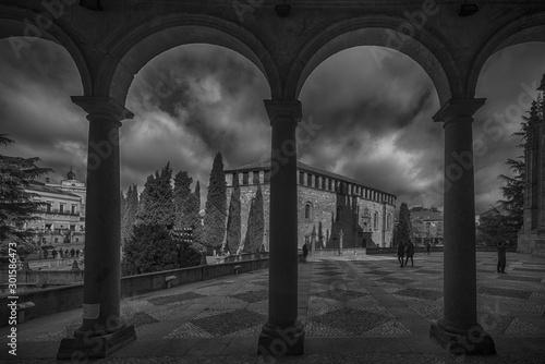 Carta da parati Panorama de la antigua y monumental Salamanca, España