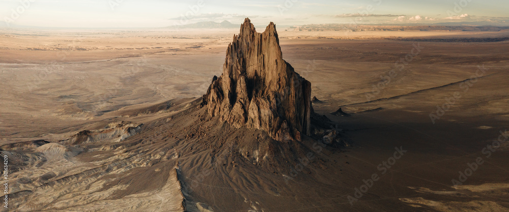 Large Eerie Mountain Structure Utah Arizona Desert Grand Canyon Mysterious Halloween Scary