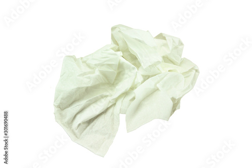 Leinwand Poster handkerchief on a white background