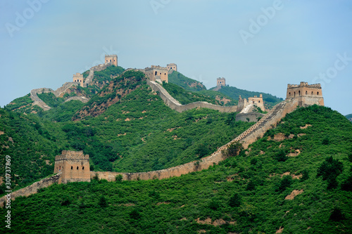 Great Wall of China in Simatai area,  about 120km from Beijing. Fototapet