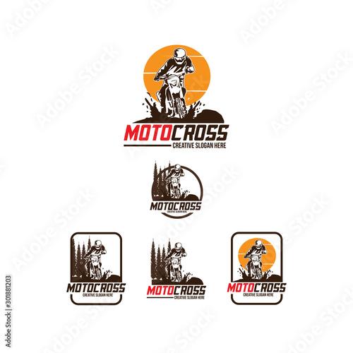 Wallpaper Mural motocross logo set