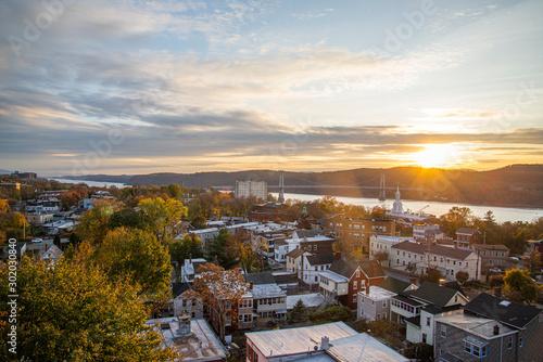 Fotografie, Obraz Sunset in the Hudson valley