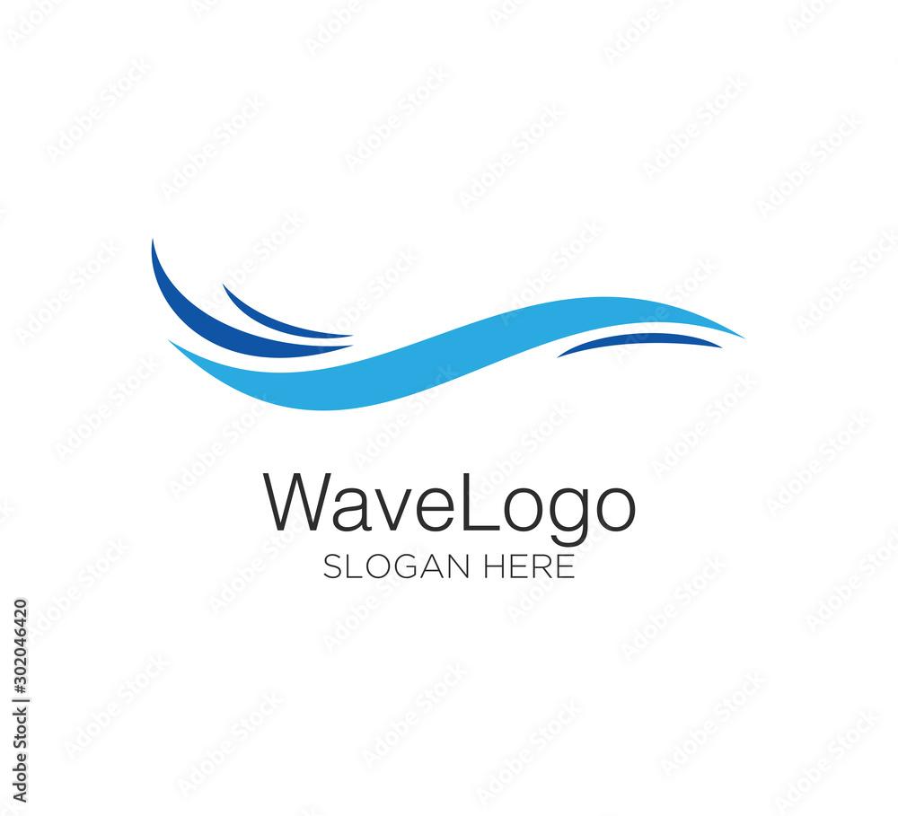 wave vector logo concept design template <span>plik: #302046420 | autor: warda</span>