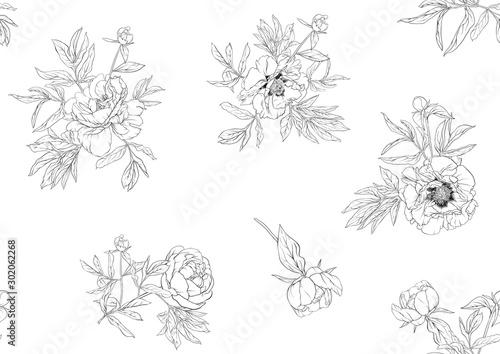 Murais de parede Peony flowers