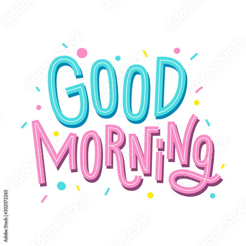 Valokuva Good morning lettering