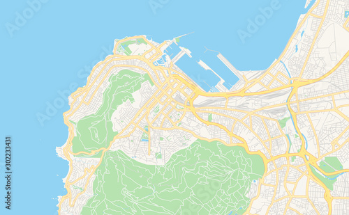 Fotografie, Obraz Printable street map of Cape Town, South Africa