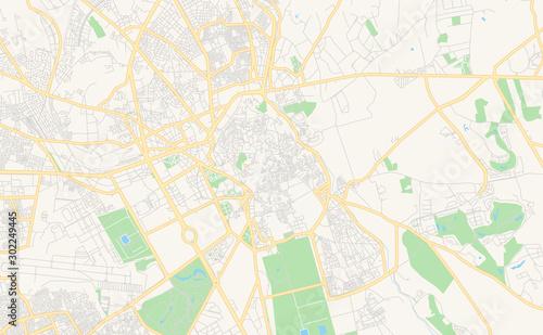 Fotografie, Obraz Printable street map of Marrakesh, Morocco