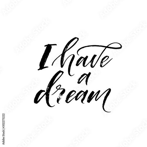 Canvas-taulu I have a dream card
