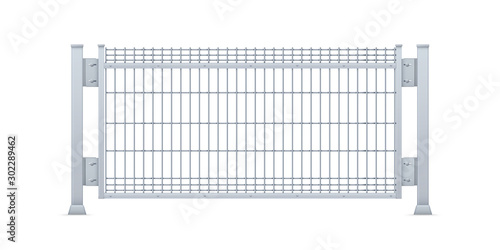 Fotomural Realistic vector galvanized sheet metal fence panel