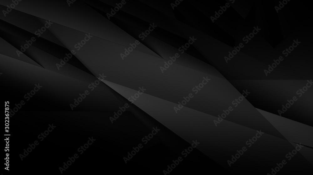 Abstract dark background illustration with geometric graphic elements <span>plik: #302367875   autor: Sergey Panychev</span>