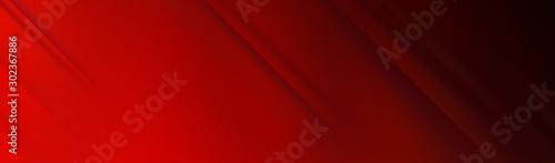 Fotografie, Tablou Red background for wide banner