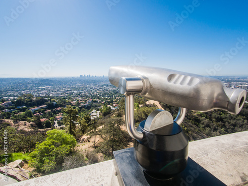 Fotografiet LOS ANGELES, USA - SEPTEMBER 20: Griffith Observatory on September 20, 2015 in Los Angeles, United States