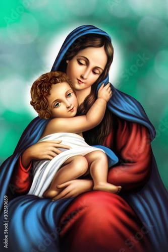 Obraz na plátně MARY Mother Of JESUS