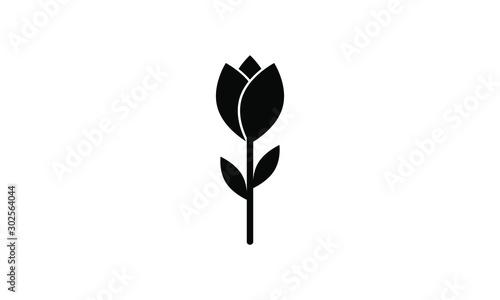 rose, tulip icon vector  #302564044