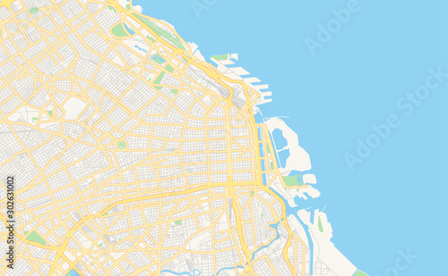 Photo Printable street map of Buenos Aires, Argentina