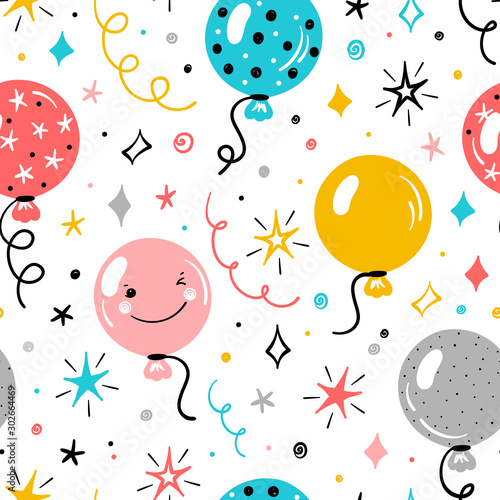 Plakat dla dzieci z balonami
