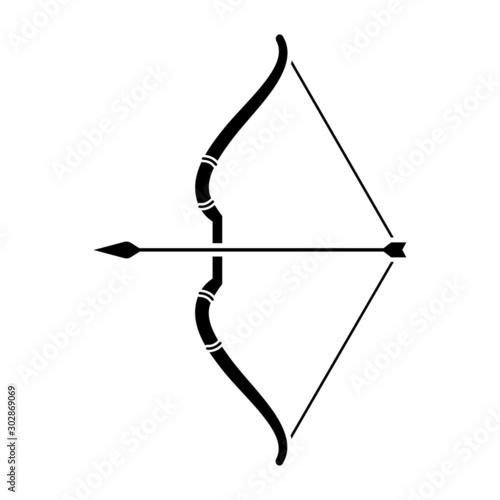 Fototapeta Archer bow vector icon