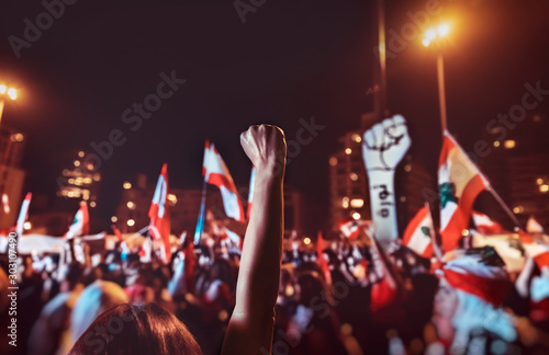 Canvas Print Revolution in Lebanon