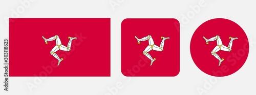 Fotografia Isle of Man flag, vector illustration
