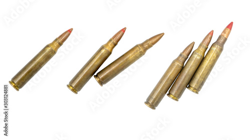 Vászonkép bullets on white background
