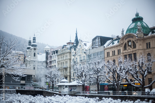 Fotografie, Obraz World-famous for its mineral springs, the town of Karlovy Vary (Karlsbad) was fo