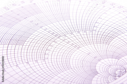 Leinwand Poster Abstract close up of Smith chart
