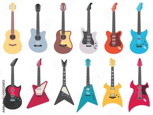 Fototapeta Flat guitars