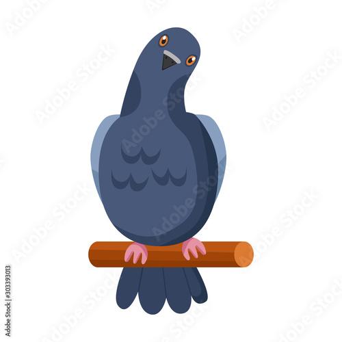 Canvas Print Pigeon vector icon