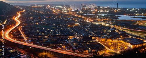 Fotografia Port Talbot at Night