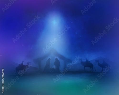 Canvas Print Birth of Jesus in Bethlehem
