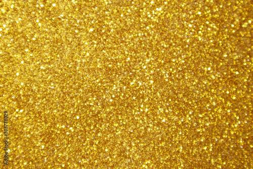 Fotografering Abstract gold glitter sparkle bokeh light background