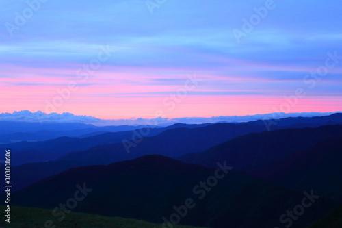 Fototapeta BEAUTIFUL SUNSET  FROM TOP OF THE MOUNTAIN