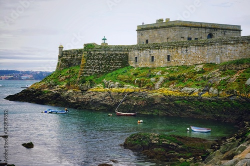 The castle of Sant Anton - Archaeological and historical museum, A Coruna, Galicia, Spain