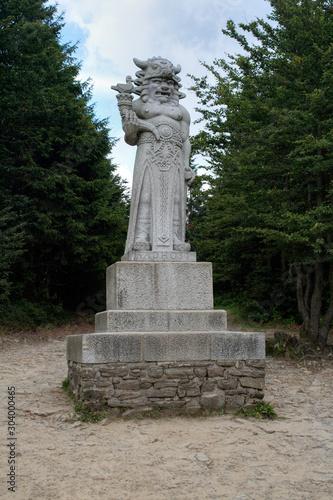 Wallpaper Mural The statue of the pagan god of Slavs Radegast on mountain Radhost - the god of the sun, abundance and harvest
