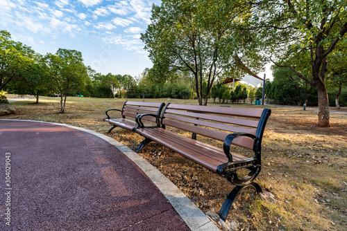Billede på lærred bench in the park