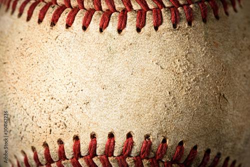Canvas Print Closeup of a dirty baseball
