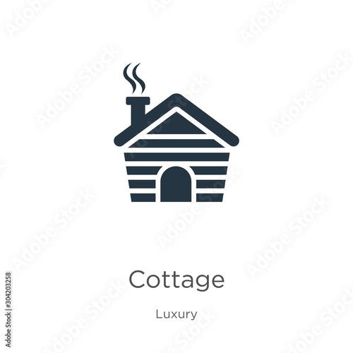 Cottage icon vector Fototapeta