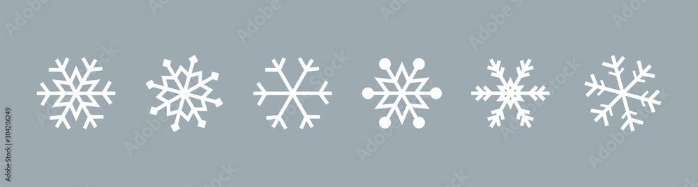 Płatek śniegu ustawiający na odosobnionym tle. Kolekcja na białym tle śnieżynka. Frost tle. Ikona Bożego Narodzenia. Ilustracji wektorowych <span>plik: #304206249 | autor: 123levit</span>