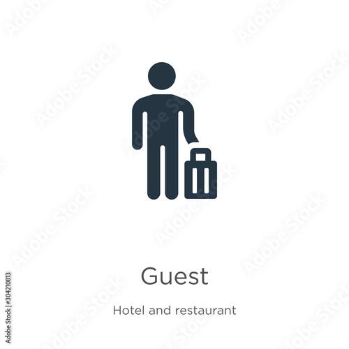 Guest icon vector Fototapet