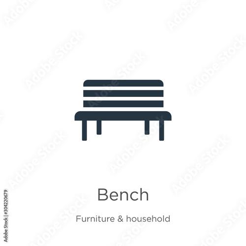 Fotografia Bench icon vector