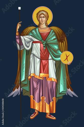 The archangel Michael Fotobehang