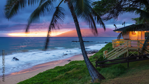 Tablou Canvas Kamaole Beach Sunset Maui