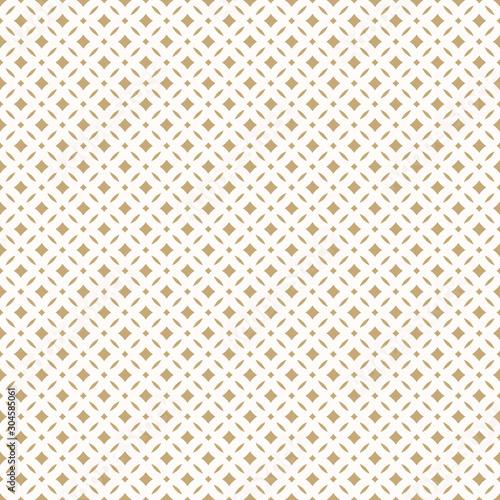Wallpaper Mural Golden abstract floral seamless pattern