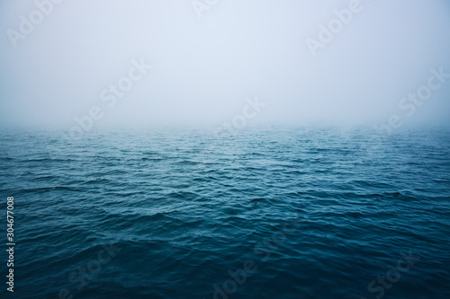 Sea ripple water with morning fog