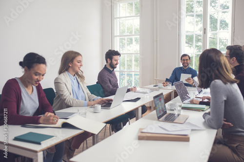 Canvas Print Business People Working