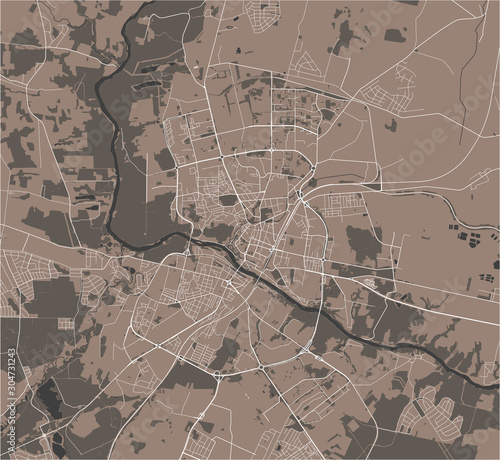 Photo map of the city of Grodno, Belarus