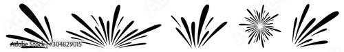 Fotografie, Obraz Water Splash Icon Black   Splashes   Droplets Symbol   Splashing Logo   Liquid M