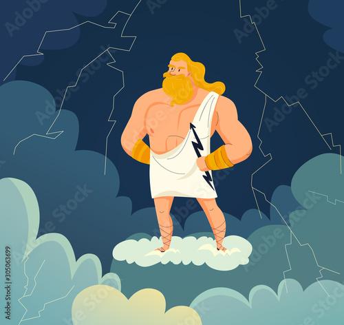 Obraz na plátně Greek God Illustration