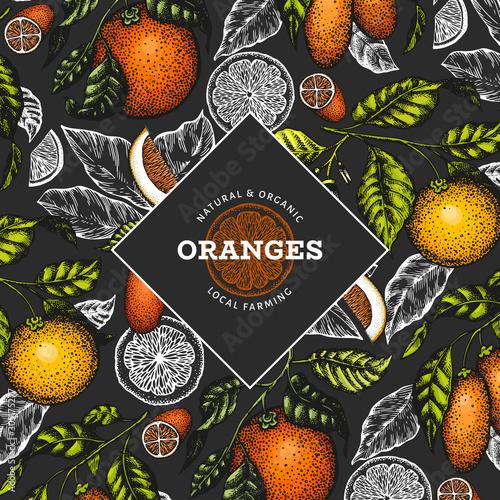 Citrus fruits design template Fototapete